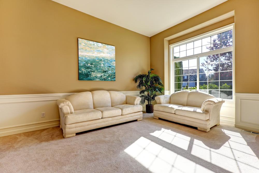 light shining through living room