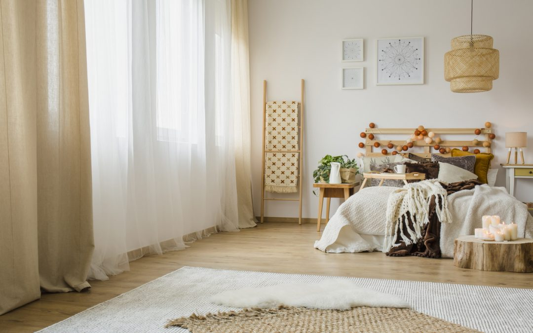 Hygge style bedroom interior